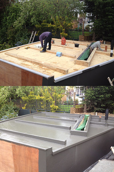 GRP Fibreglass Flat Roofing London, Guildford and Surrey